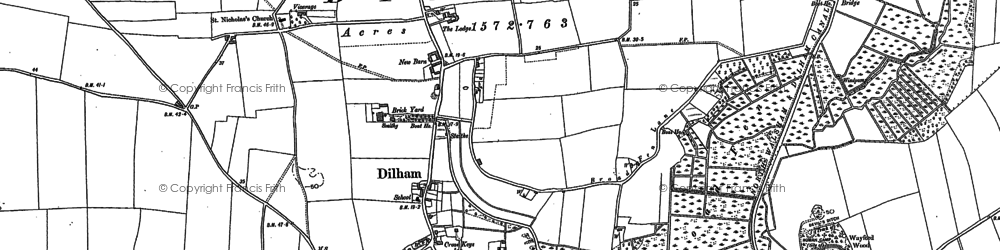 Old map of Anchor Street in 1884