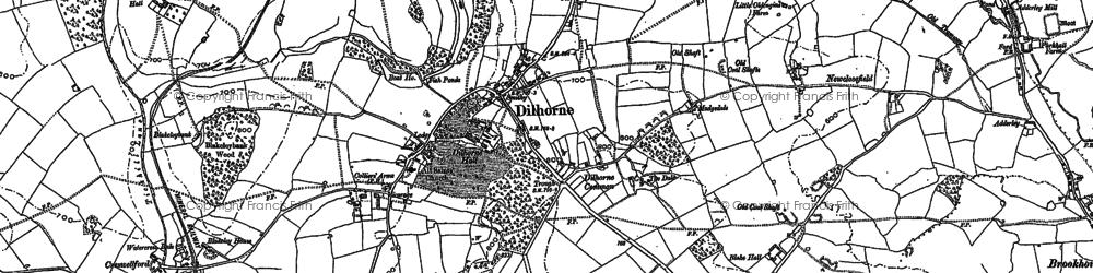 Old map of Whitehurst in 1879