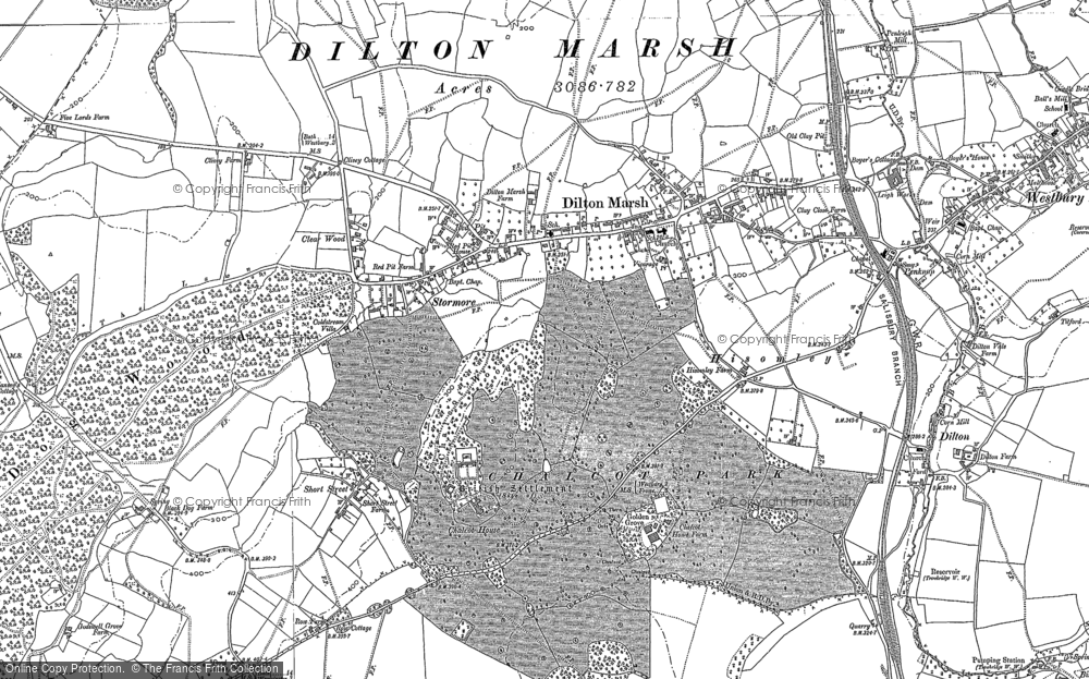 Old Map of Dilton Marsh, 1922 in 1922