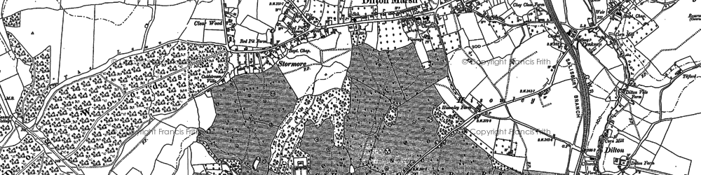 Old map of Dilton Marsh in 1922