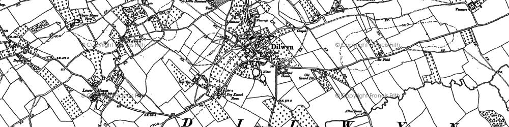 Old map of Dilwyn in 1885