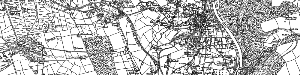 Old map of Dimson in 1905