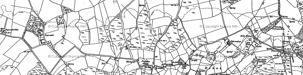Old map of Y Ddôl in 1899