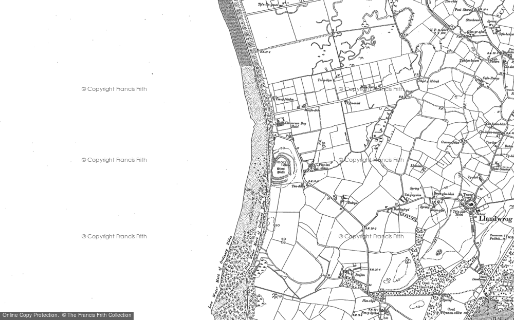 Old Map of Dinas Dinlle, 1899 in 1899