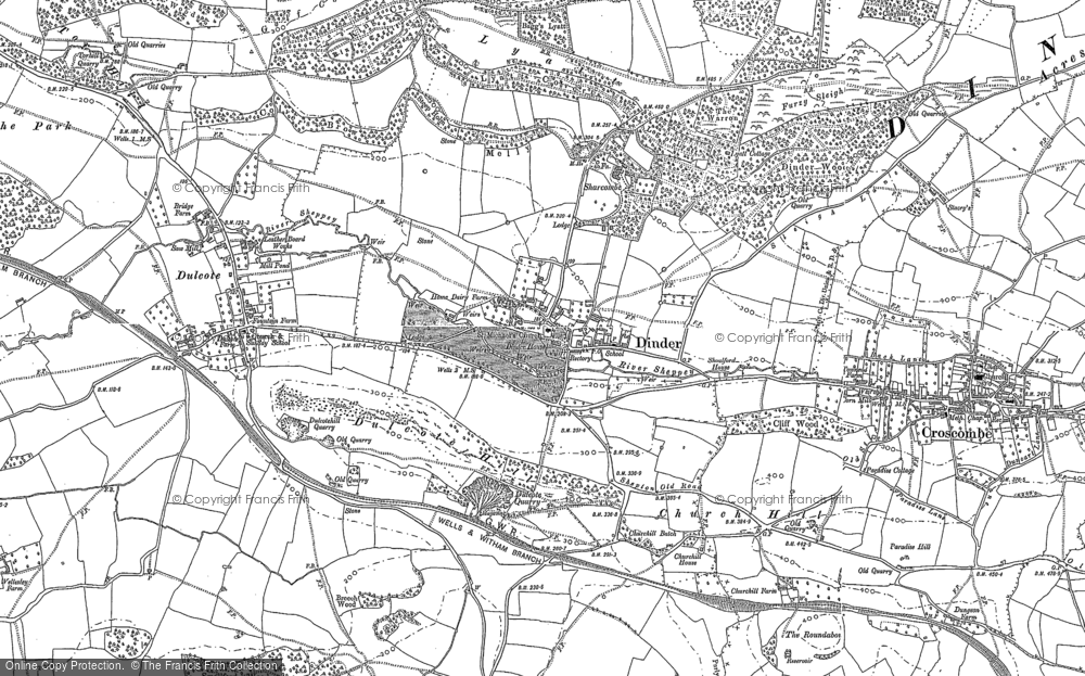 Old Map of Dinder, 1885 - 1886 in 1885