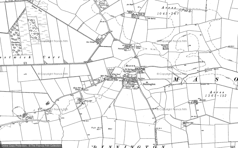 Old Map of Historic Map covering Toft Hill in 1895