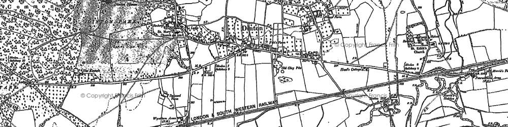 Old map of Dinton in 1899