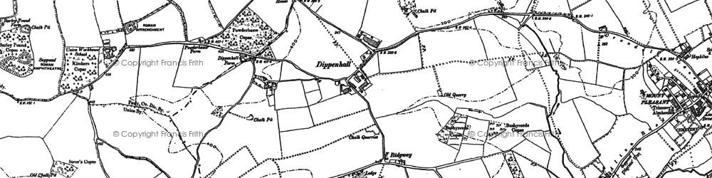 Old map of Dippenhall in 1913