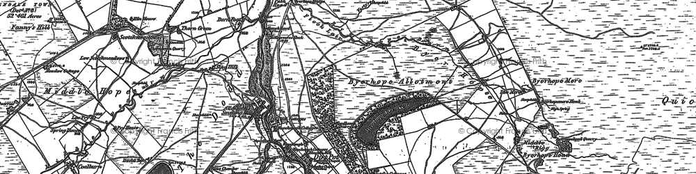 Old map of Allendale Common in 1895
