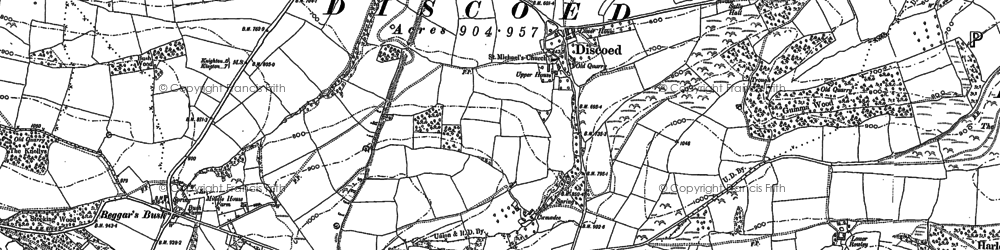 Old map of St Mary's Mill in 1887