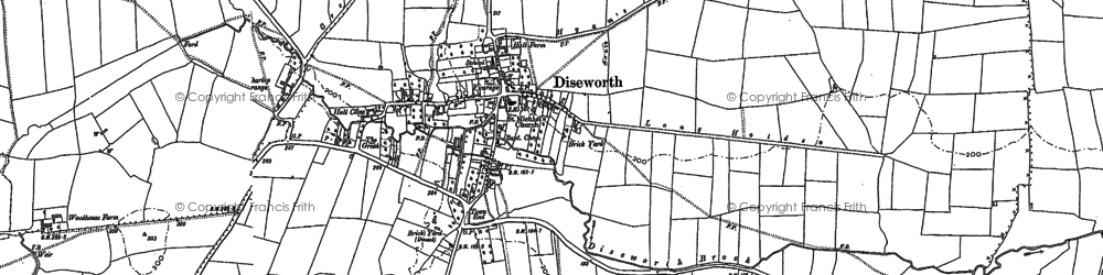 Old map of Westmeadow Brook in 1882