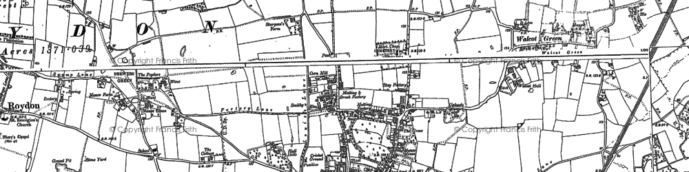 Old map of Diss in 1903