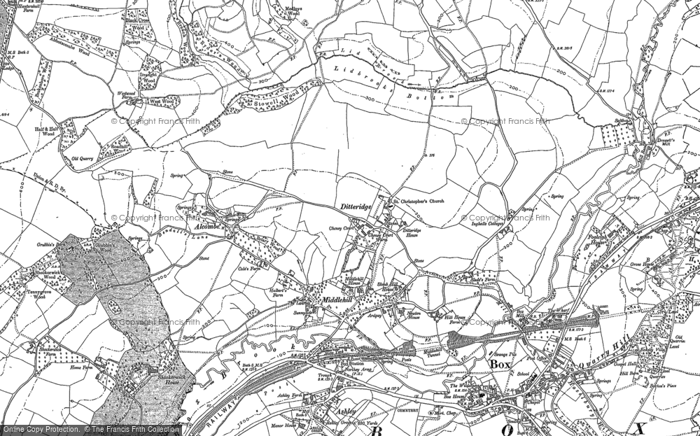 Old Map of Historic Map covering Ashley in 1919