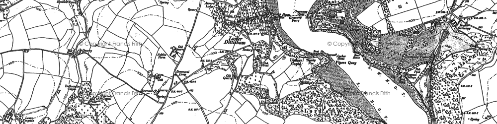 Old map of Lapthorne in 1886