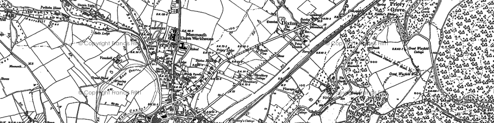 Old map of Dixton in 1900