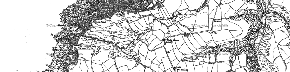 Old map of Dizzard in 1905