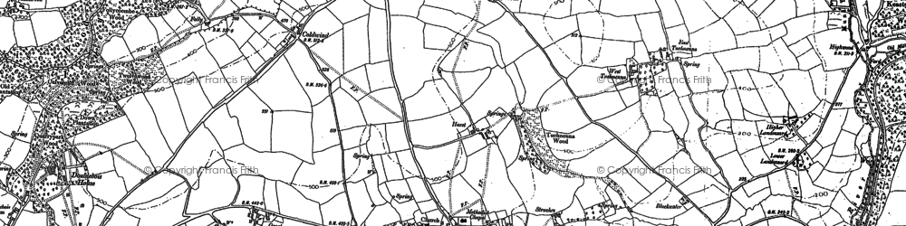 Old map of Ashford Br in 1881