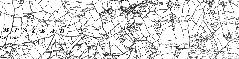 Old map of Wooston in 1884