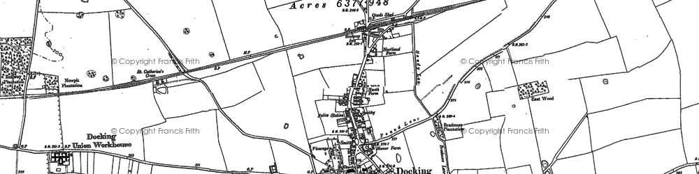 Old map of Docking in 1885