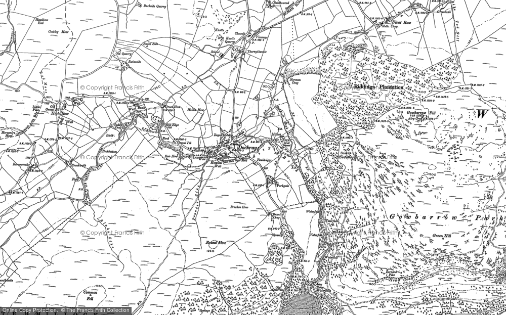 Old Map of Historic Map covering Aira Force in 1898