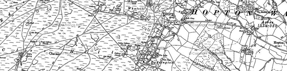 Old map of Clee Hill in 1879