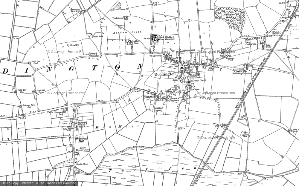 Old Map of Historic Map covering Askham Ho in 1886