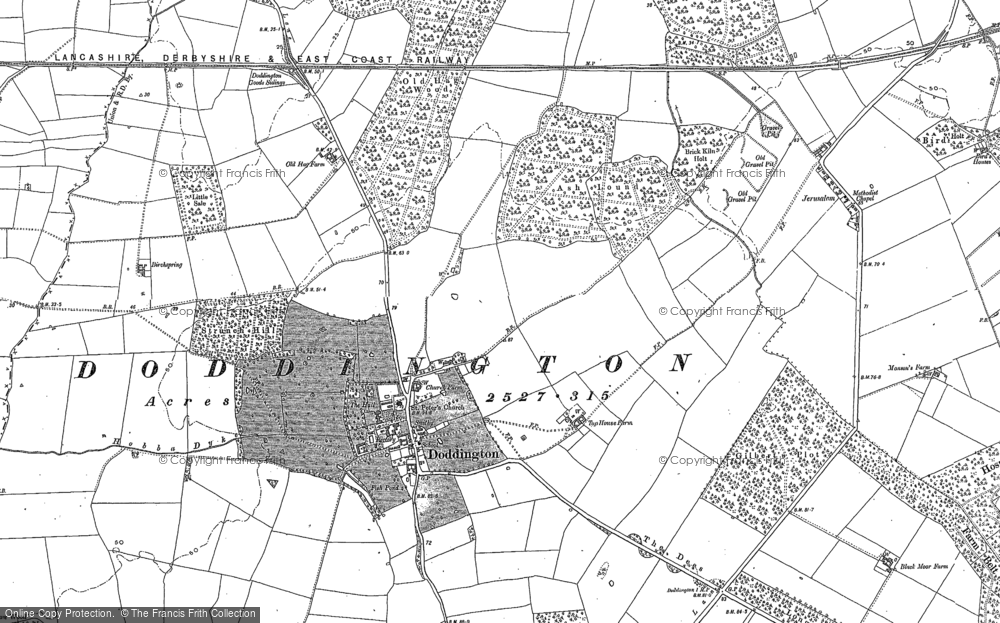 Old Map of Doddington, 1900 - 1904 in 1900