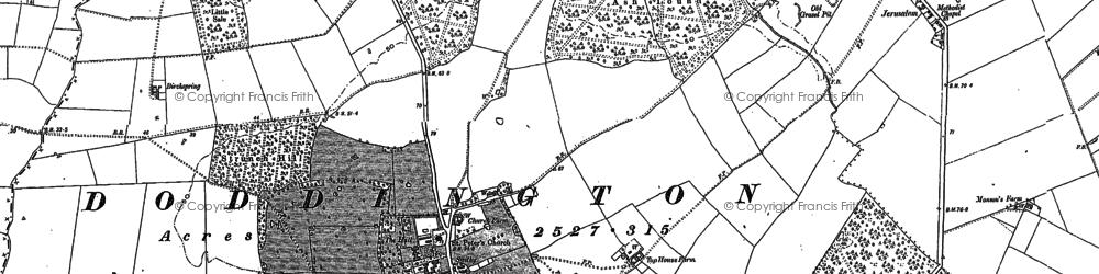 Old map of Doddington in 1900
