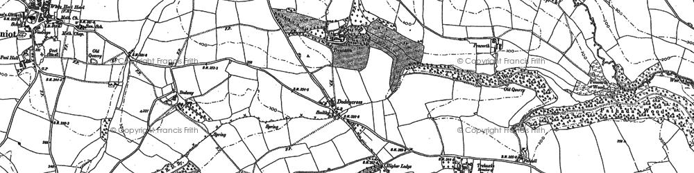 Old map of Doddycross in 1882