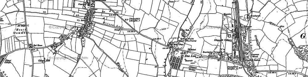 Old map of Ault Hucknall in 1897