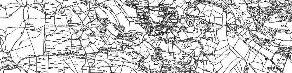 Old map of Lawnt in 1885