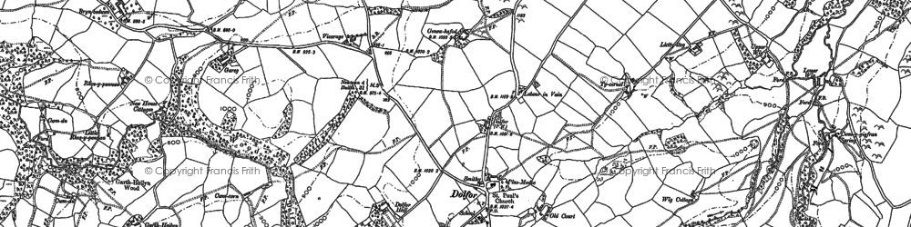 Old map of Banc Cefnperfedd in 1884