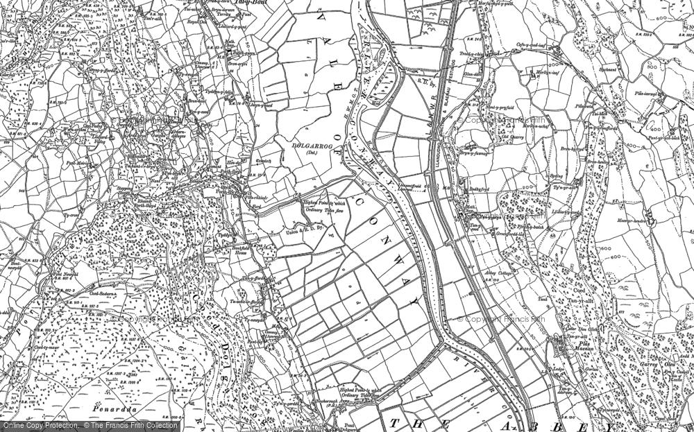 Old Map of Dolgarrog, 1887 - 1899 in 1887