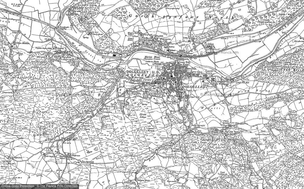 Old Map of Historic Map covering Afon Arran in 1887