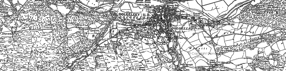 Old map of Dolgellau in 1887