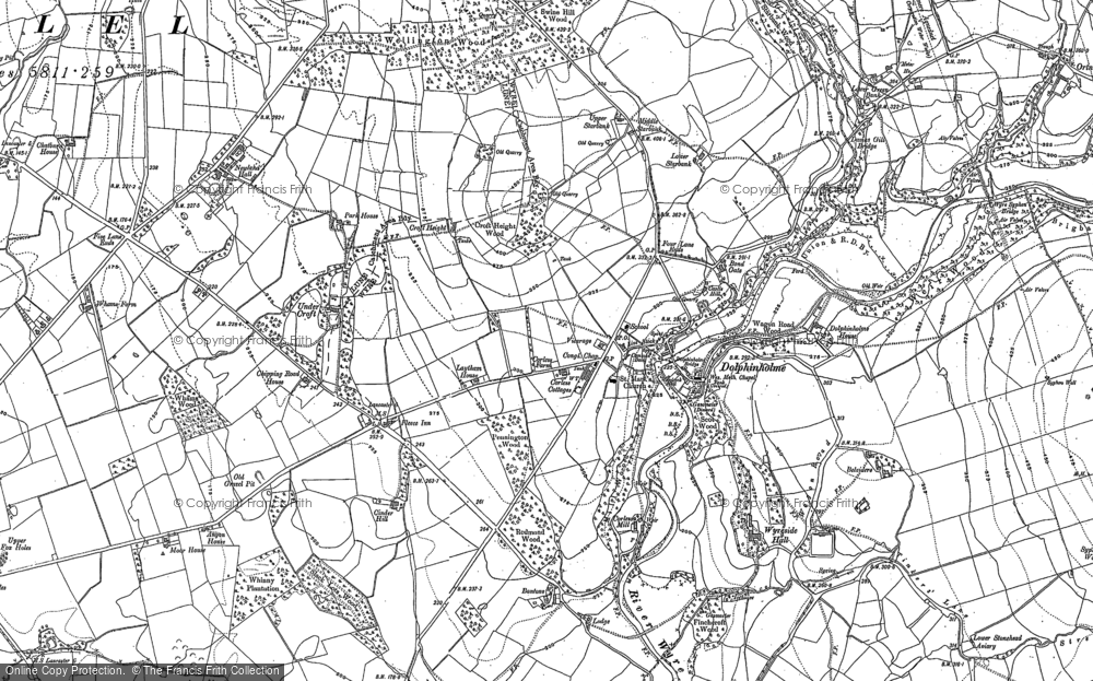 Old Map of Dolphinholme, 1910 in 1910