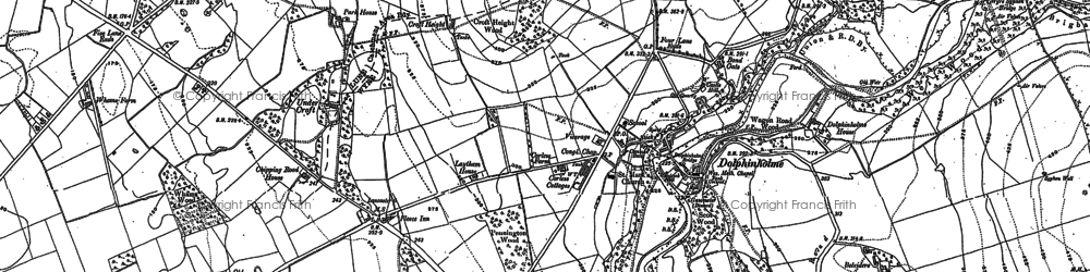 Old map of Dolphinholme in 1910