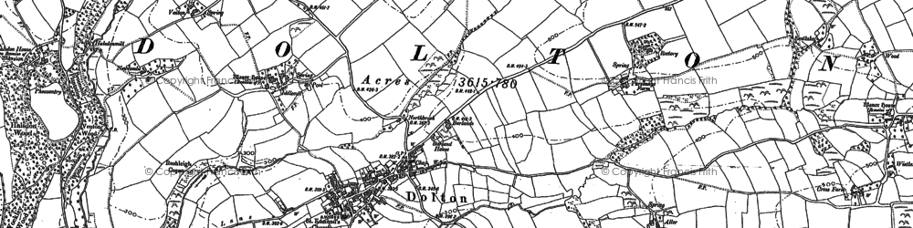 Old map of Woodtown in 1885