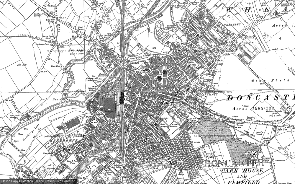 Old Map of Doncaster, 1890 - 1904 in 1890
