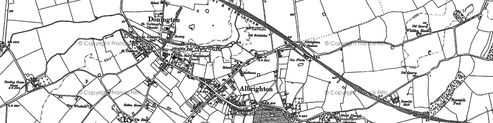 Old map of Albrighton in 1881