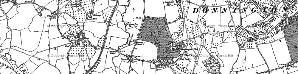 Old map of Donnington in 1883