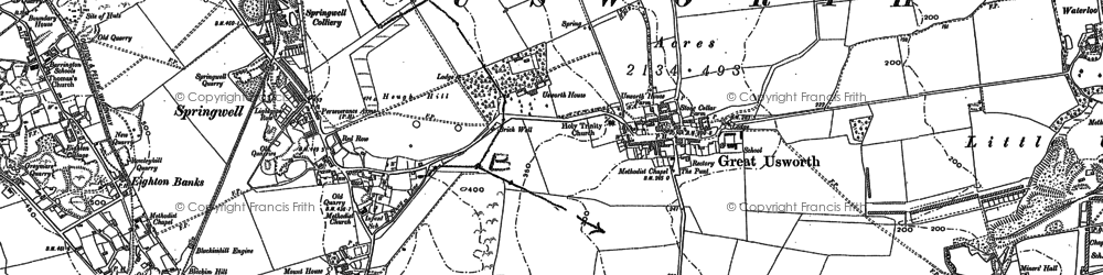 Old map of Leam, The in 1895
