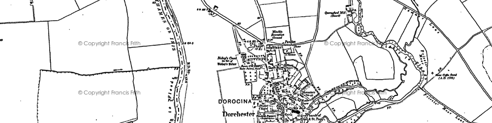 Old map of Dorchester in 1910