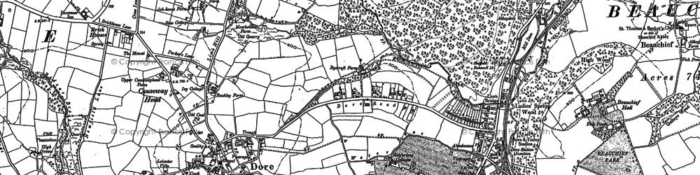 Old map of Whitelow in 1903