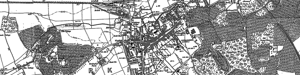 Old map of Rose Hill in 1895