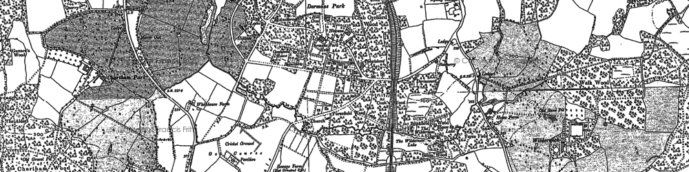 Old map of Dormans Park in 1910