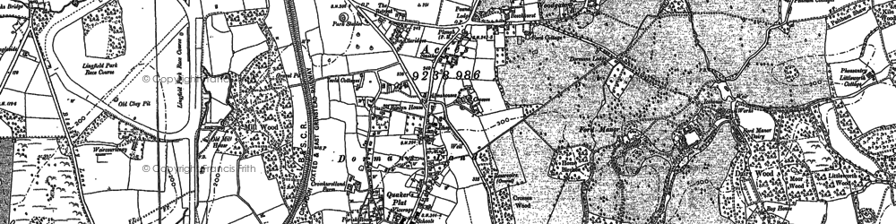 Old map of Dormansland in 1910