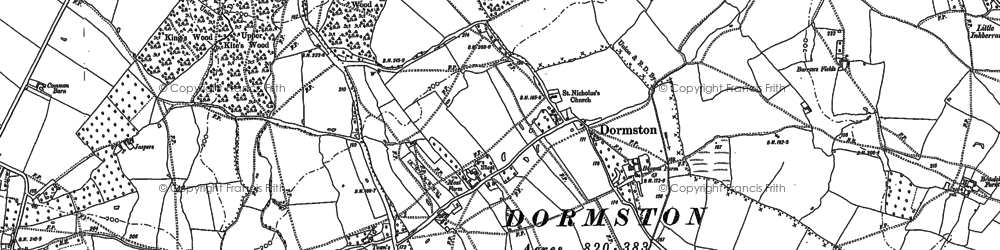 Old map of Ballom Hill in 1884