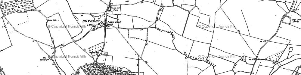 Old map of Dorney in 1910