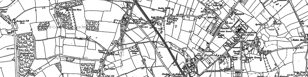 Old map of Dorridge in 1886